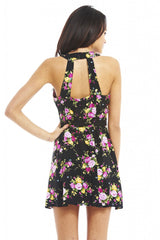 AX Paris Floral Open Back Dress