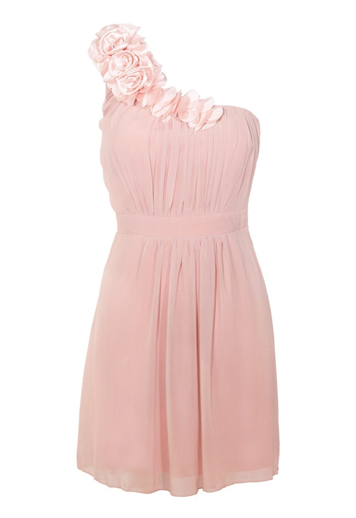 Dusky Pink Chiffon Party Dress - Glitzy Angel