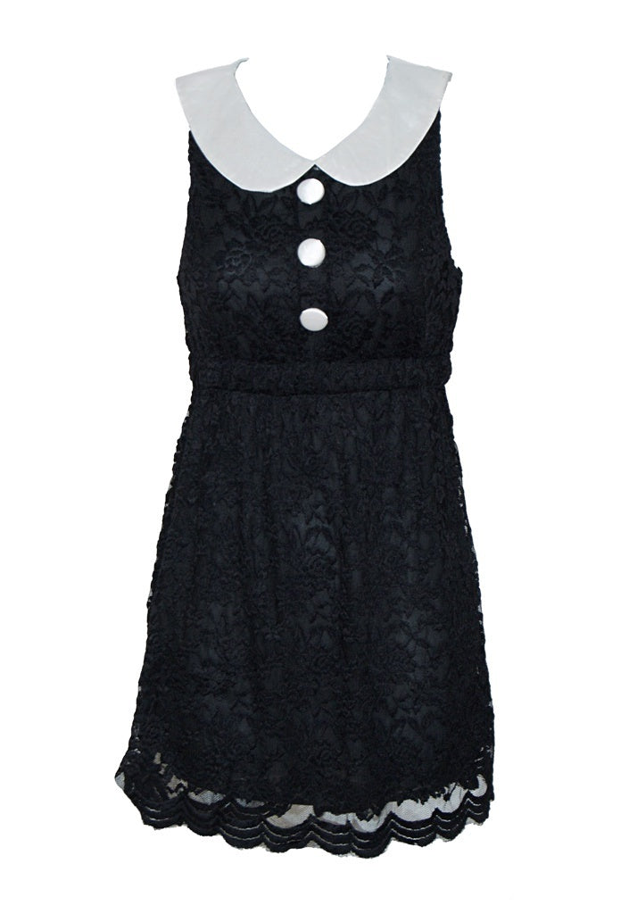 Black Lace Shift Dress - Glitzy Angel