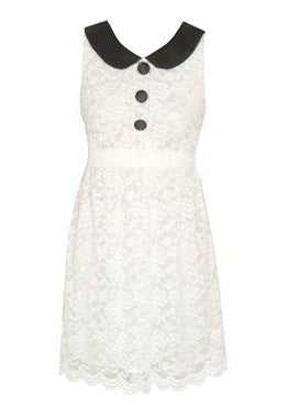 Cream Lace Shift Dress - Glitzy Angel