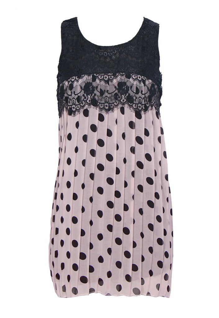 Polka Dot Lace Tunic - Glitzy Angel