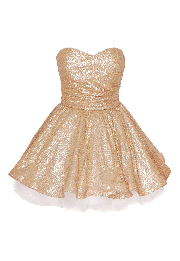 Gold Prom Dress - Glitzy Angel