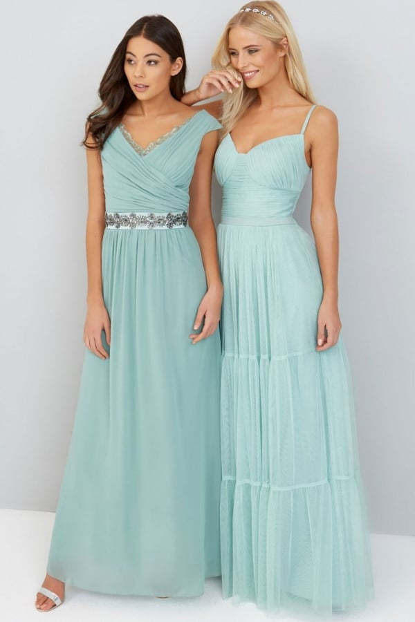 Little Mistress Green Maxi Dress - Bridesmaids Dresses