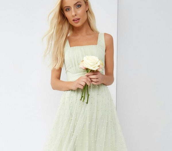 Little Mistress Green Mini Dress - Going Out Dresses