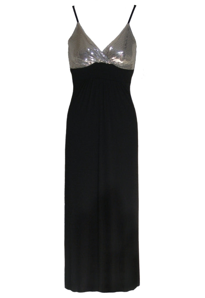 John Zack Sequin Maxi Dress - Glitzy Angel