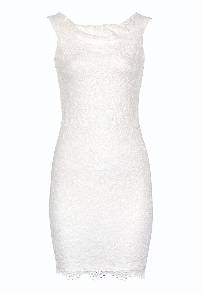John Zack Cream Lace Dress - Glitzy Angel