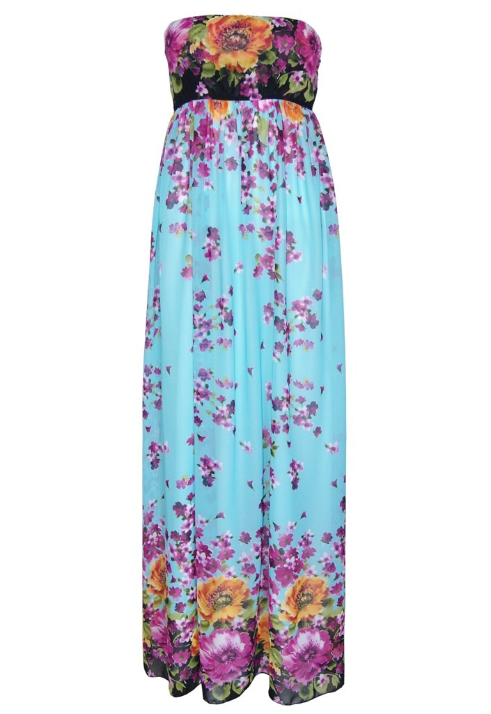 John Zack Summer Wedding Maxi Dress - Turquoise - Glitzy Angel