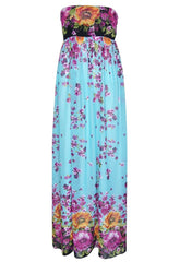 John Zack Summer Wedding Maxi Dress - Turquoise