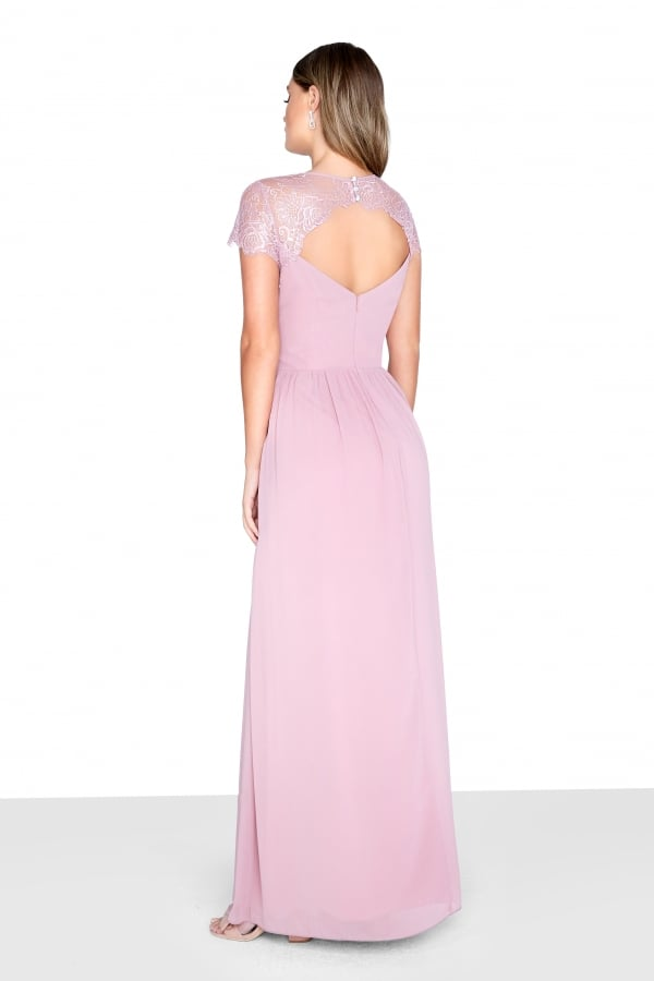 LITTLE MISTRESS BLUSH WRAP MAXI