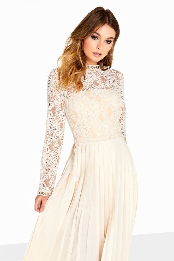 LITTLE MISTRESS CREAM LACE DRESS