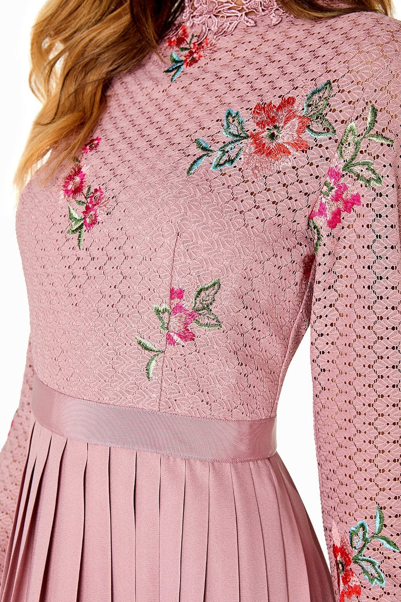 LITTLE MISTRESS EMBROIDERED DRESS