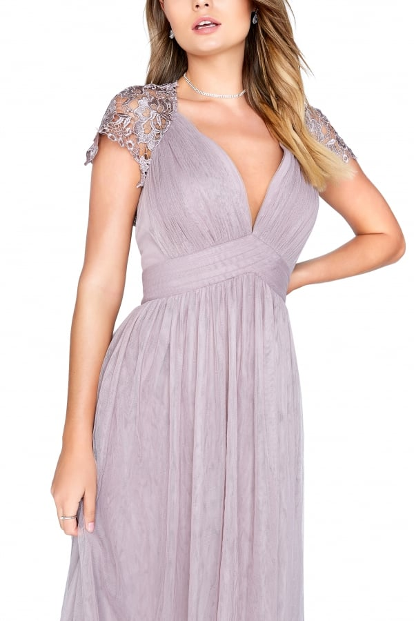Little Mistress Oyster Maxi Dress