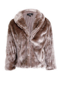 Little Mistress Short Textured Fur Jacket - Glitzy Angel