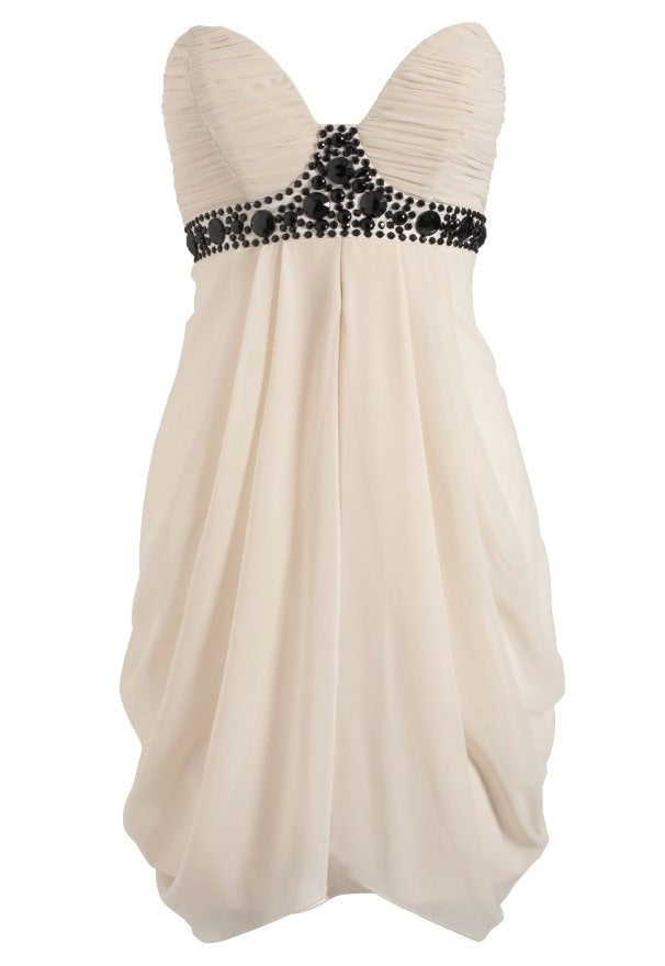 Lipsy Bandeau Grecian Drape Dress - Glitzy Angel