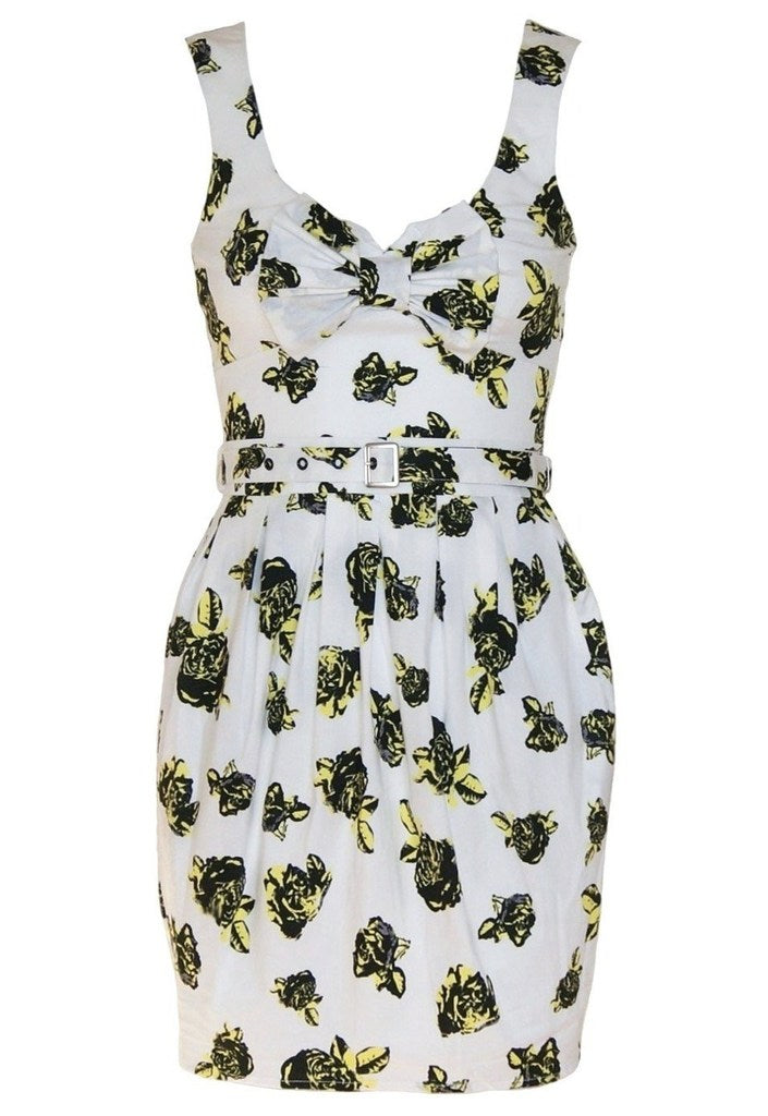 Lipsy Bloom Print Heart Back Dress - Glitzy Angel