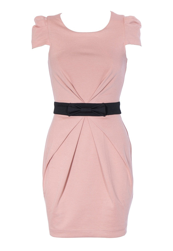 Lipsy Bow Front Ponte Dress - Glitzy Angel