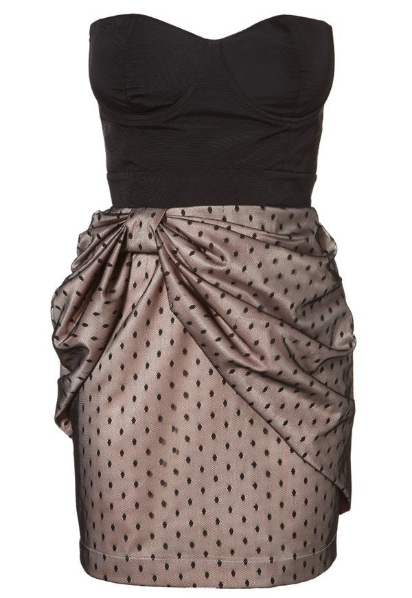 Lipsy Bow Skirt Bustier Dress - Glitzy Angel
