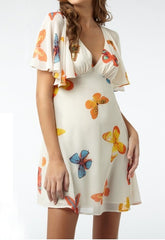 Lipsy Cape Sleeve Dress - Butterfly