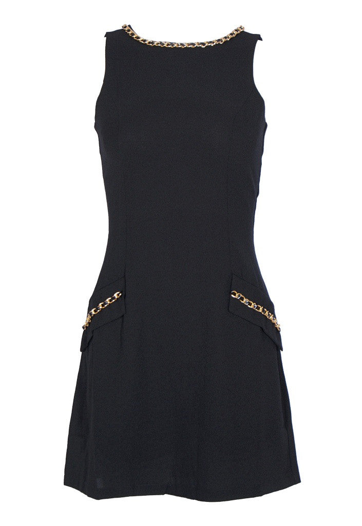Lipsy Chain Neck Pocket Dress - Glitzy Angel