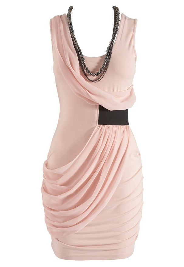 Lipsy Chain Trim Ruched Dress - Glitzy Angel