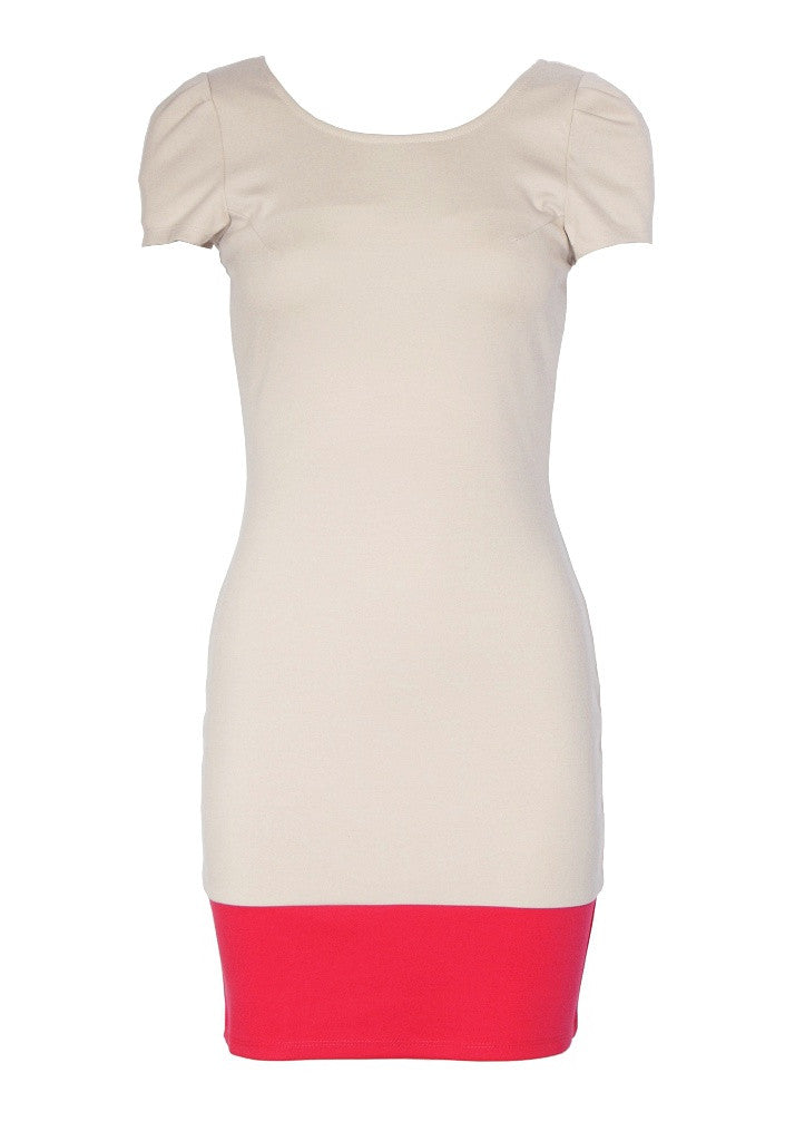 Lipsy Colour Block Hem Dress - Glitzy Angel