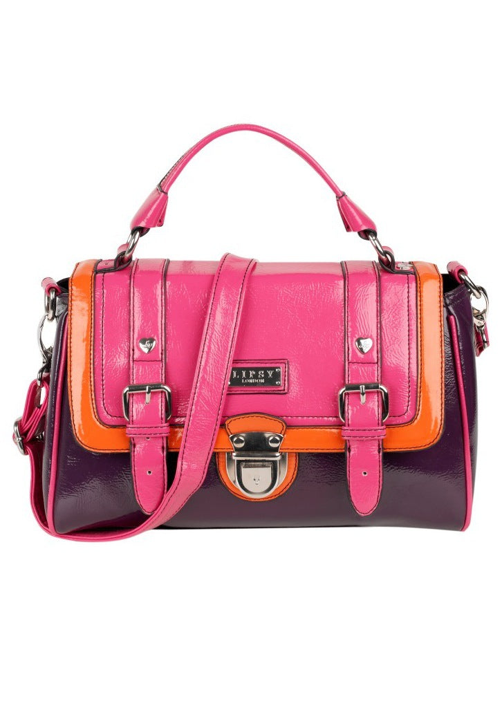 Lipsy Colour Block Satchel - Glitzy Angel