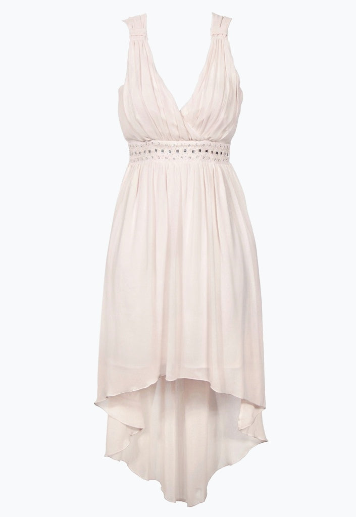 Lipsy Dipped Hem Strappy Dress - Glitzy Angel