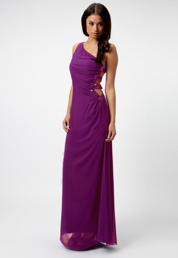 Lipsy Embellished Strap Maxi Dress - Glitzy Angel