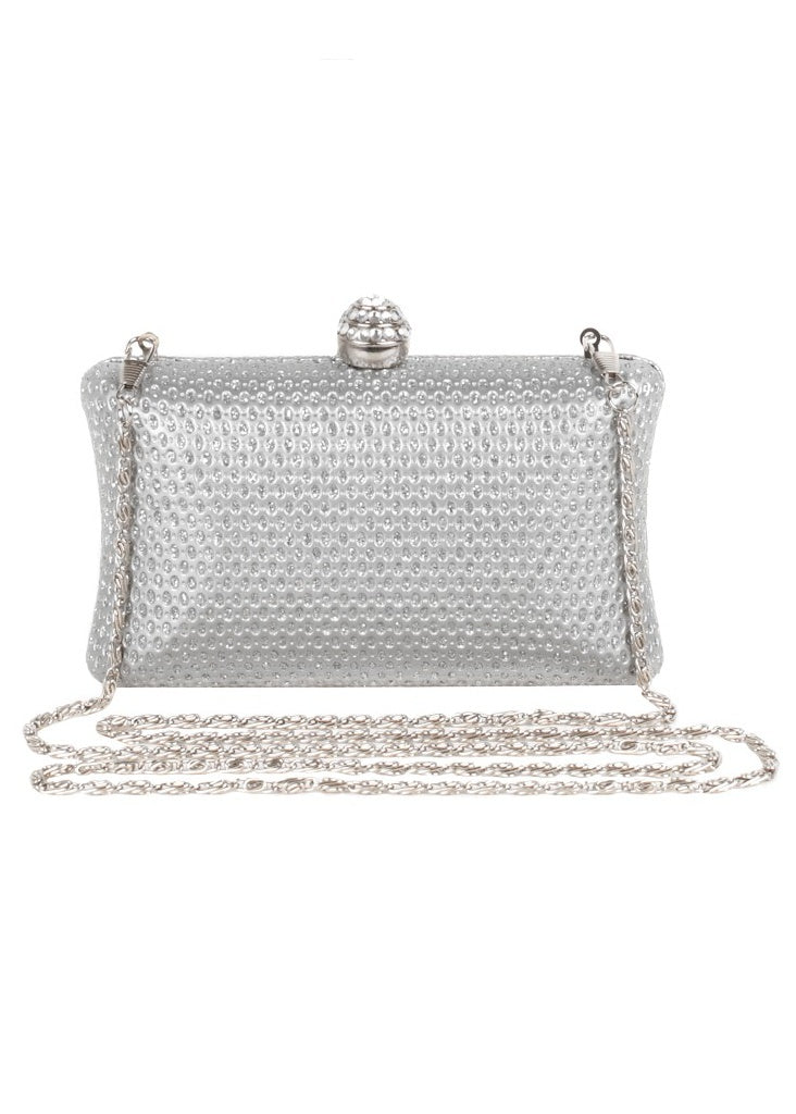 Lipsy Envelope Diamante Box Clutch - Glitzy Angel