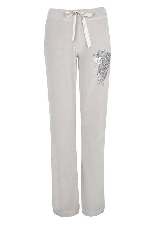 Lipsy Feather Logo Heart Joggers - Glitzy Angel