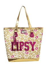 Lipsy Glitter Lips Shopper