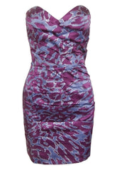 Lipsy Glitter Print Ruched Dress