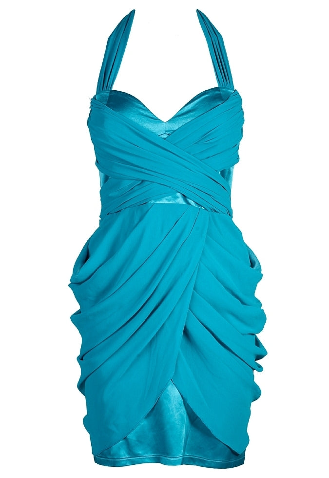Lipsy Grecian Drape Dress - Glitzy Angel