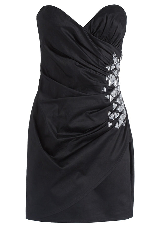 Lipsy Jewelled Strapless Ruched Dress - Glitzy Angel