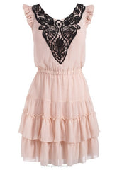 Lipsy Lace Embroidered Detail Dress