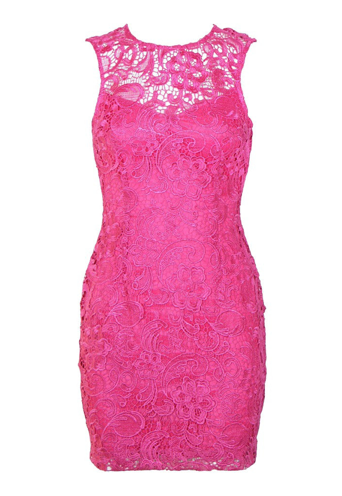 Lipsy Lace Low Back Dress - Glitzy Angel