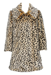 Lipsy Leopard Faux Fur Coat