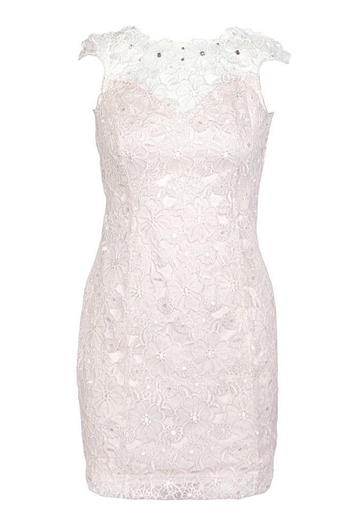 Lipsy Low Back Organza Flower Dress - Wedding Guest Dresses - Glitzy Angel