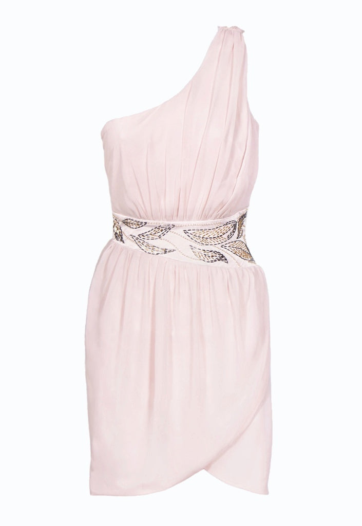 Lipsy One Shoulder Embellished Chiffon Dress - Party Dresses - Glitzy Angel