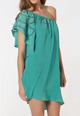 Lipsy One Shoulder Cutwork Dress