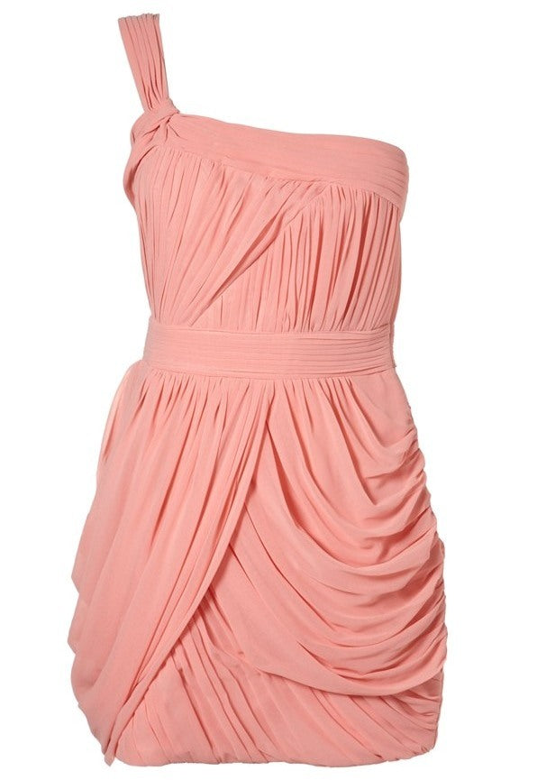 Lipsy One Shoulder Grecian Dress - Glitzy Angel
