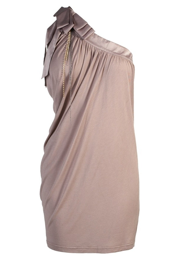 Lipsy One Shoulder Satin Bow Top - Glitzy Angel