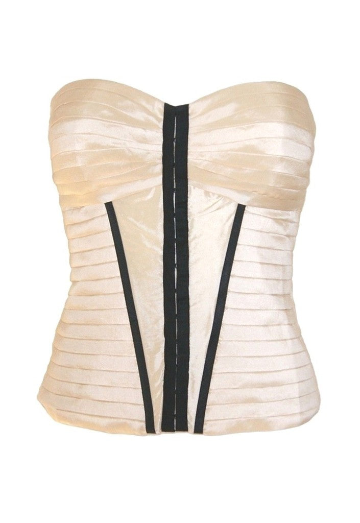 Lipsy Pleat Corset Top - Glitzy Angel