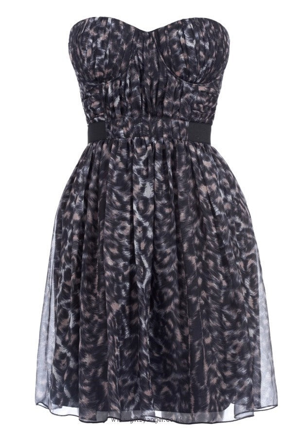 Lipsy Animal Print Dress - Glitzy Angel