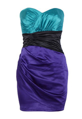 Lipsy Strapless Colour Block Dress