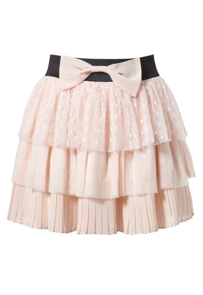 Lipsy Tiered Bow Skirt - Glitzy Angel