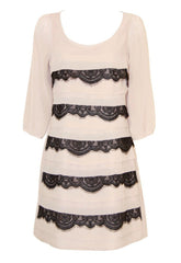 Lipsy Tiered Lace Shift Dress