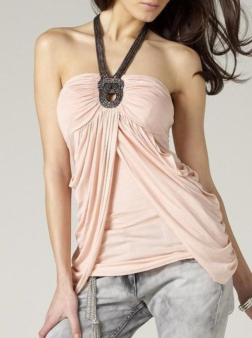 Lipsy Twisted Chain Trim Top - Glitzy Angel