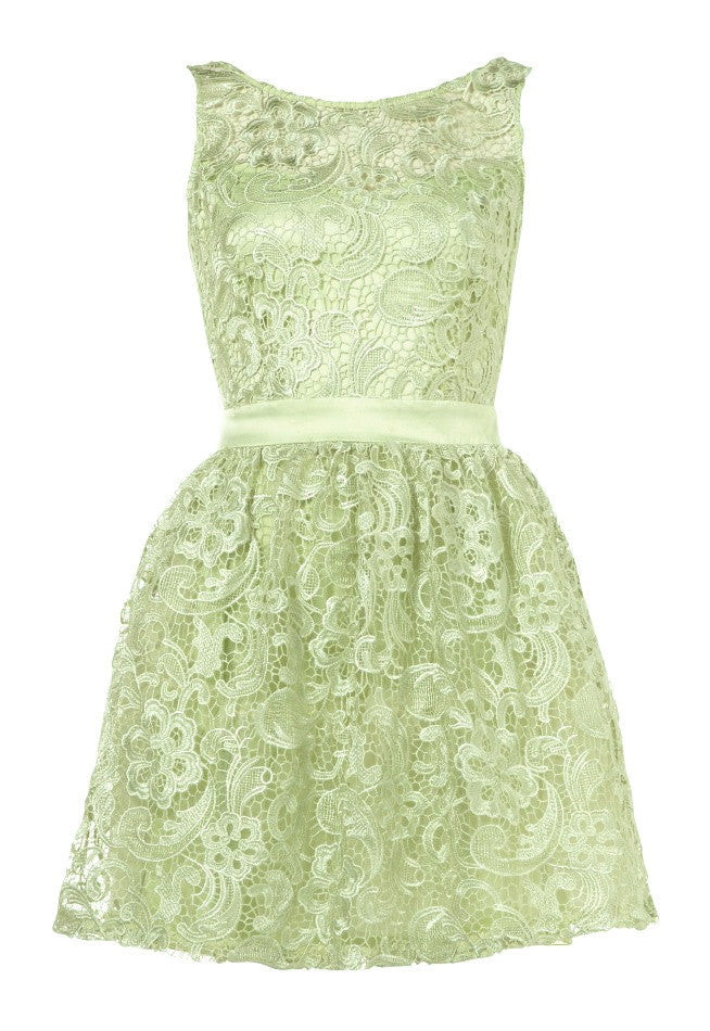 Lipsy Waxed Lace Prom Dress - Glitzy Angel