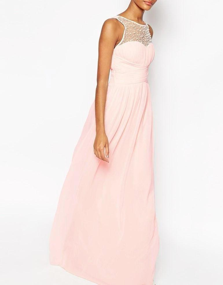 Little Mistress Pink Maxi Dress